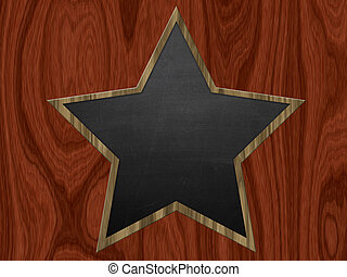 Star shaped chalkboard - Illustration blank star shaped...
