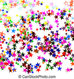 Colorful star shaped confetti background