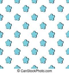Star shaped flower pattern, cartoon style