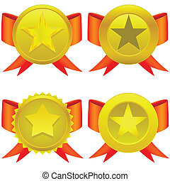 Star shaped medals