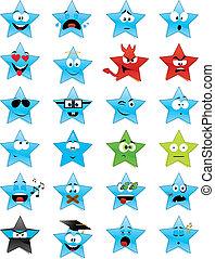 star-shaped, smiley vetter