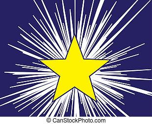 Star Shine - Star shining over dark background