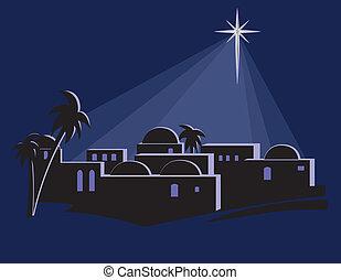 Star Shining Over Bethlehem