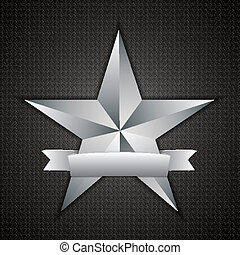 Star sign - Beautiful vector star sign with ribbon for your...