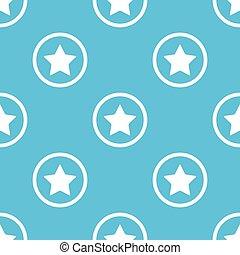 Star sign blue pattern