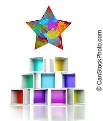 Star sign colorful 3d design illustration