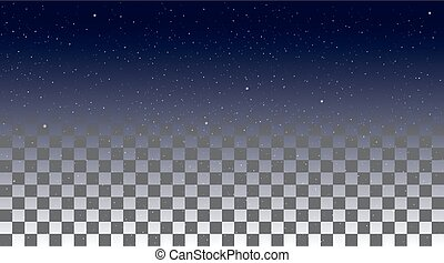 Star Sky on a transparent background