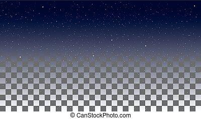 Star Sky on a transparent background
