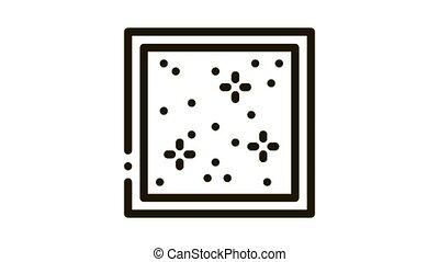 star sky stretch ceiling Icon Animation. black star sky stretch ceiling animated icon on white background