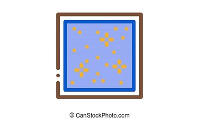 star sky stretch ceiling Icon Animation. color star sky stretch ceiling animated icon on white background