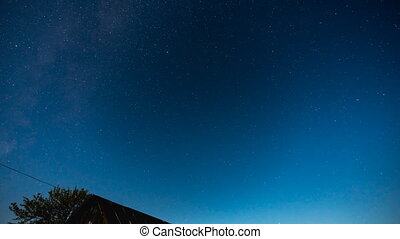 Star Sky Time Lapse - Stars Sky Turning Space ...