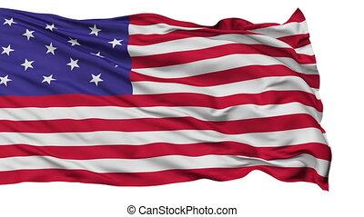 Star Spangled USA Isolated Waving Flag
