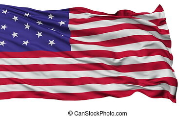Star Spangled USA Isolated Waving Flag