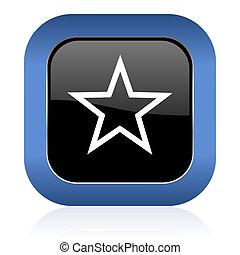star square glossy icon