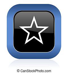 star square glossy icon