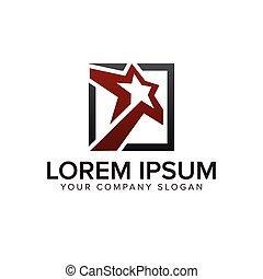 star square logo design concept template