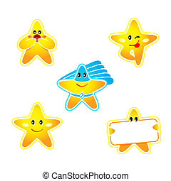 Star stickers - Emotion, banner and super hero star stickers...