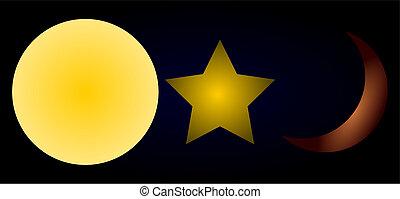 Star, Sun, Moon