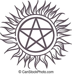 Star sun sign vector illustration.