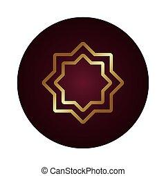 star symbol block gradient style icon vector illustration ...