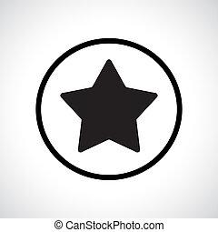 Star symbol in a circle.