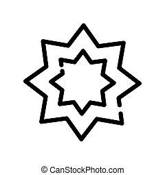 star symbol line style icon vector illustration design