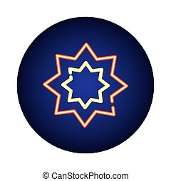 star symbol neon light style icon vector illustration design