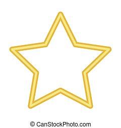star symbol neon lights icon vector illustration design