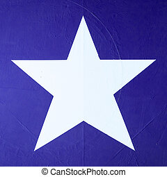 Star symbol on an old warplane