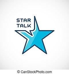 Star Talk Abstract Vector Logo Template