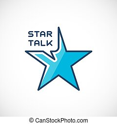 Star Talk Abstract Vector Logo Template