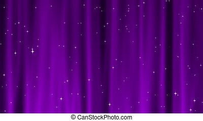 Star Tapestry Magenta Loop - Sparkling star particles fall...