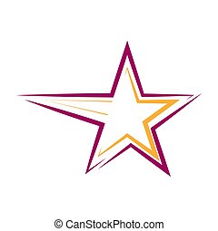 Star. Template for a logo, sticker, or emblem isolated on a white background