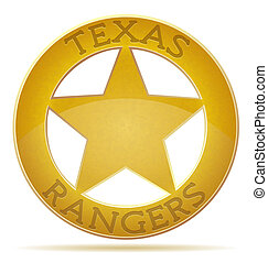 star texas ranger illustration isolated on white background