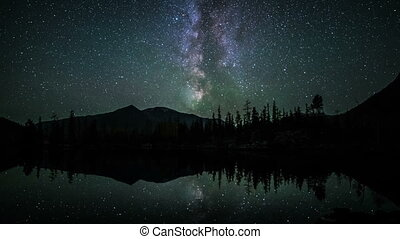 Star Time Lapse of milky way at night - Star Time Lapse,...