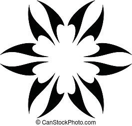 Star Tooth Inside Flower Logo Template Illustration Design. Vector EPS 10.