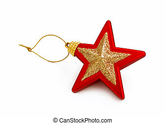 star toy isolated on white