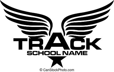 track team design - star track team design with wings for...