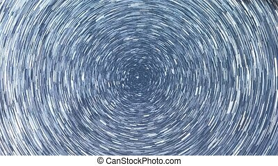 Star tracks in the form of long lines. Zoom. Time Lapse