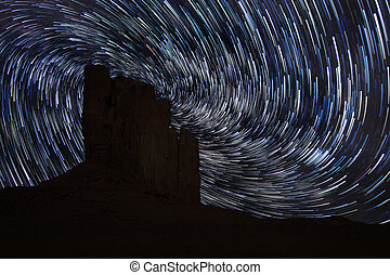 Star Trails in Monument Valley Navajo Nation Arizona