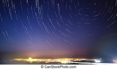 Star Trails over Gozo