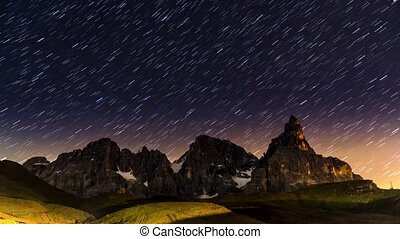 Star trails over Pale di St.Martino - Star trails over Pale...