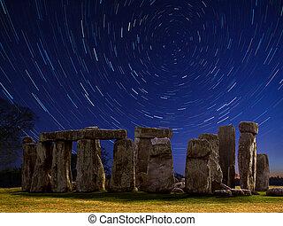 Star Trails over Stonehenge - England