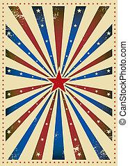 Star tricolor paper