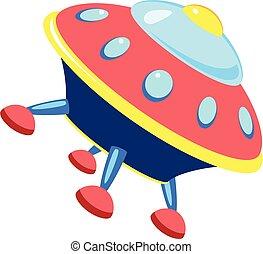 Star ufo icon, cartoon style