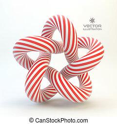 Star. Vector 3D illustration.