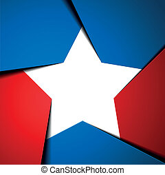 star - detailed illustration of a stylized patriotic star...