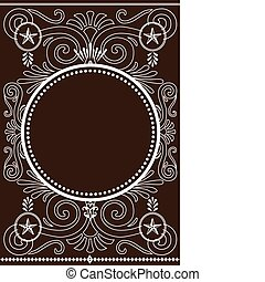 Star Vector Frame and Pattern