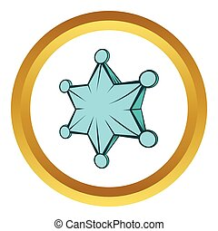 Star vector icon, cartoon style