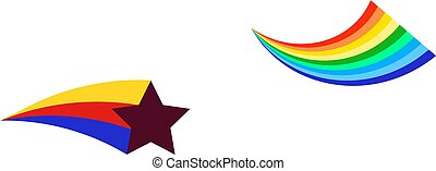 star vector icon, colorful star icon rainbow